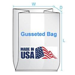 Gusseted Poly Bags  10X4X20 2 Mil  1000/CTN| Prism Pak