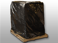 51 X 49 X 85 Black Low Density Polyethylene Pallet Cover with UVI Additive 3 mil /RL| Prism Pak