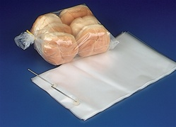 "11"" x 18"" x 4"" Wicketed Commercial Grade 1.25 mil thickness Poly Bakery Bags, 8040"