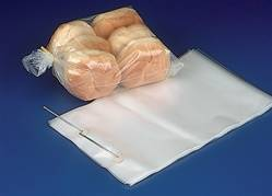 "10"" x 15"" x 4"" Wicketed Commercial Grade 1.25 mil thickness Poly Bakery Bags, 8037"