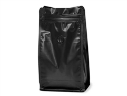 16 oz Black Coffee Bags with Degassing Valve, 25 pack| Prism Pak