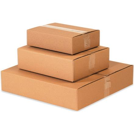 "10 x 10 x 5"" Flat Corrugated Boxes"