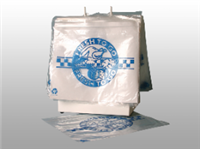 "LK Plastics | 10 X 8 Seal Top Saddle Pack Deli Bag -- Printed ""Fresh to Go"" One Color 1.25 mil 1,000/cs"