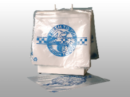 "10 X 8 Slide Seal Saddle Pack Deli Bag -- Printed ""Fresh to Go"" One Color 1 mil 1,000/cs