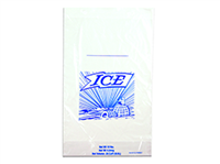 12 X 19 + 4 BG + 1 1/2 LP Printed 10 lb. Ice Bag on Header -- use with Ice Bagger 1.25 mil 1,000/cs| Prism Pak