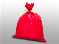 Red Dressing Disposal Bag 4 X 30 High-Density| Prism Pak