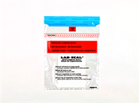 Specimen Bags Lab Seal®Tamper-Evident with Removable Biohazard Symbol and Absorbent Pad| Prism Pak