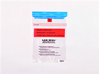 "Lab Seal® Tamper-Evident Specimen Bags with Absorbent Pad and Printed ""Chain of Custody"" 6 X 10 1.8 mil 1,000/cs