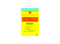 Specimen Bags Lab Seal®Tamper-Evident with Removable Biohazard Symbol - Yellow Tint| Prism Pak