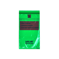 Lab-Loc® Specimen Bags with Removable Biohazard Symbol - Green Tint 6 X 9 1.75 mil 1,000/cs| Prism Pak