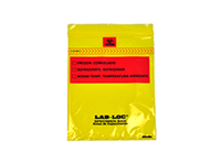 Lab-Loc® Specimen Bags with Removable Biohazard Symbol - Yellow Tint 6 X 9 1.75 mil 1,000/cs| Prism Pak