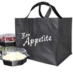 Non-Woven Polypropylene Bag -- Catering and Take Out  14 X 12 X 12 + 12 BG100/cs| Prism Pak