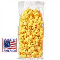 "5.5"" x 2.25"" x 14"" 8 cup  EZ Open Clear Cello Bags for Popcorn